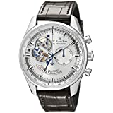 Zenith Men's 03.2080.4021/01.C494 Chronomaster Stainless Steel Open Heart Automatic Watch with Brown Leather Band (Tamaño: 0)