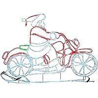 WeRChristmas 120cm Animated Santa Riding Motorbike Rope Light