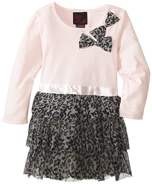 Girls-Rule-Little-Girls-Tiered-Printed-Bow-Dress