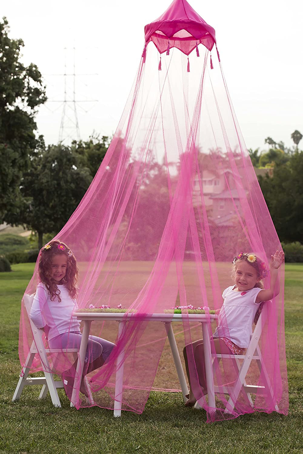 Butterfly Craze 174 Girls Hot Pink Princess Play Tent And