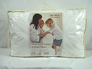 Roma - Lote de 2 almohadas de plumas de pato   Comentarios de clientes y más información