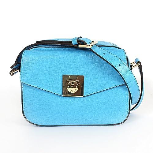 Furla Mini Saffiano Leather Swingpack Crossbody Bag Atlantic