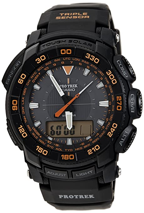 Casio Men's PRG550-1A4 Pro Trek Triple-Sensor Tough Solar Analog-Digital Watch-奢品汇 | 海淘手表 | 腕表资讯