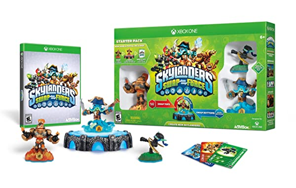 Paquete Skylanders Swap Force Starter, incluye juego y muñecos para Xbox One