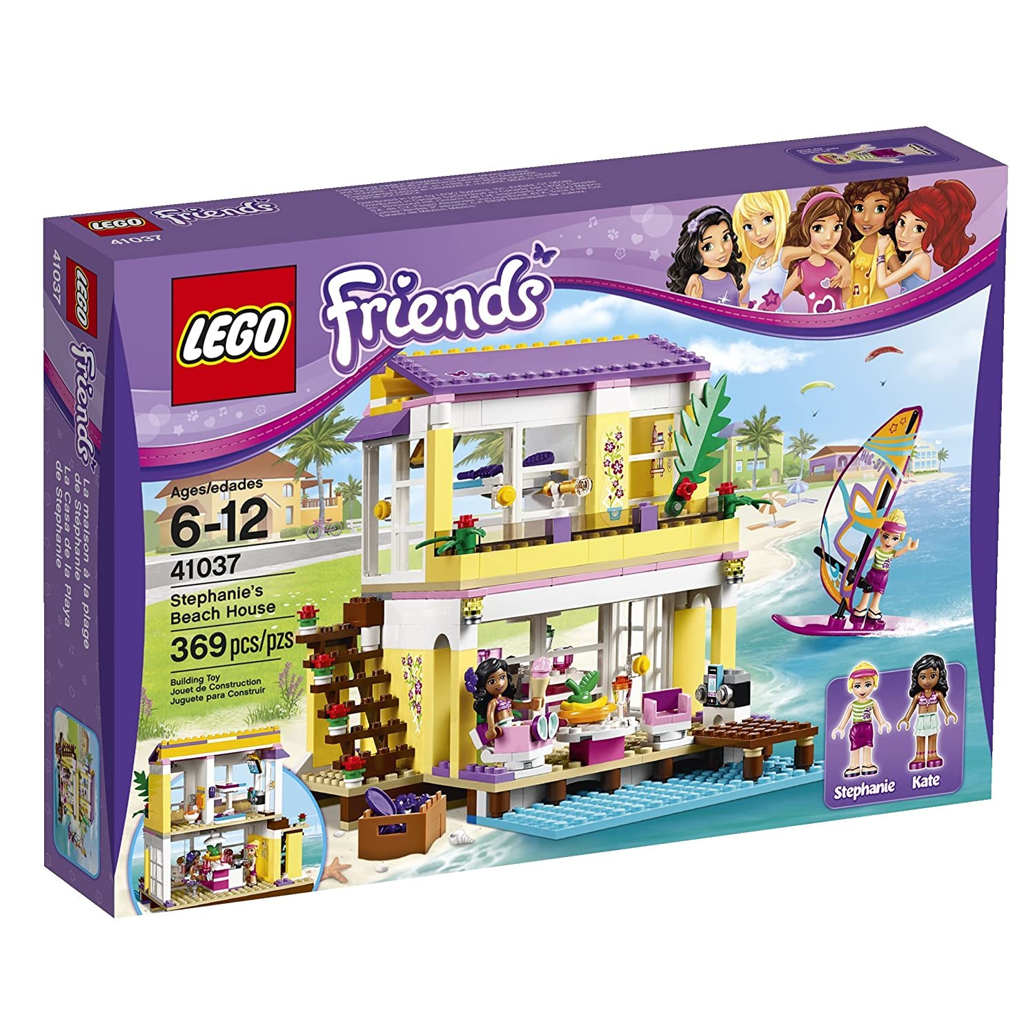 LEGO Friends Stephanie's Beach House, 369 Pcs