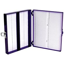 Heathrow Scientific HD15988H Polycarbonate Purple Durable True North Slide Box, 208mm Width x 175mm Height x 34mm Depth