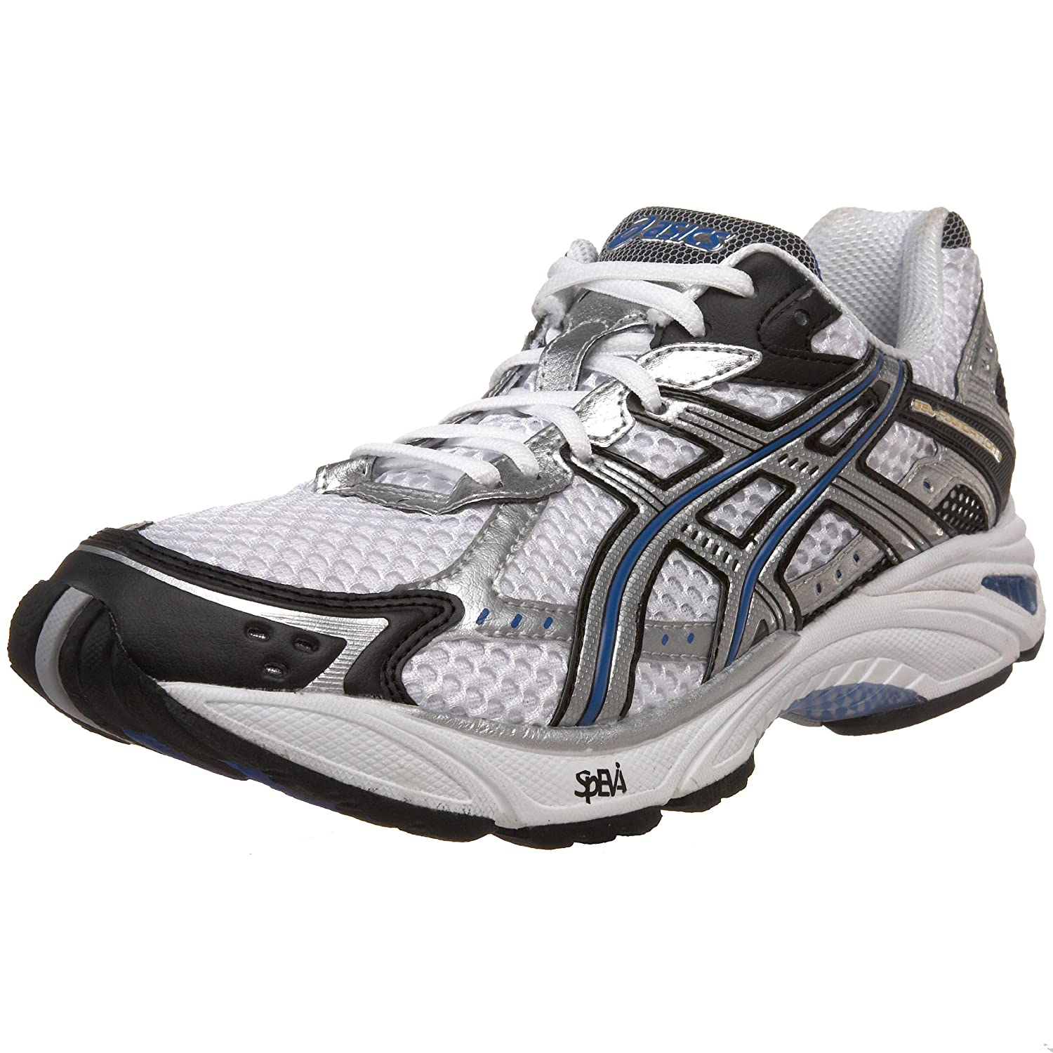 ASICS Men's GEL-Foundation 9 Running Shoe,White/Lightning/Royal,9.5 2E US