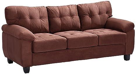 Glory Furniture G902A-S Living Room Sofa, Chocolate