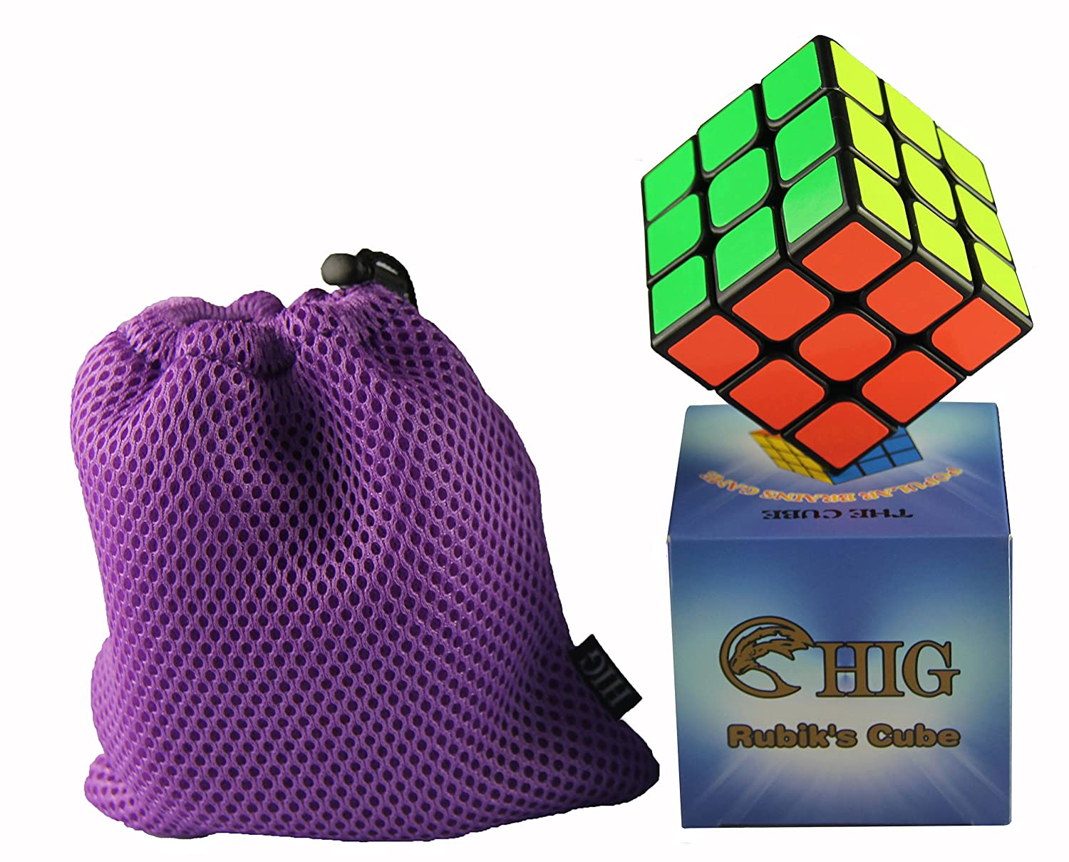 HIG Rubiks Cube is An interesting Puzzle Cube - 3 x 3 Speed Cube(Black)