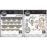 Tim Holtz Sizzix Intricate Edges & Flourishes Die Bundle - Crochet and Adorned Thinlit Sets - 2 Items