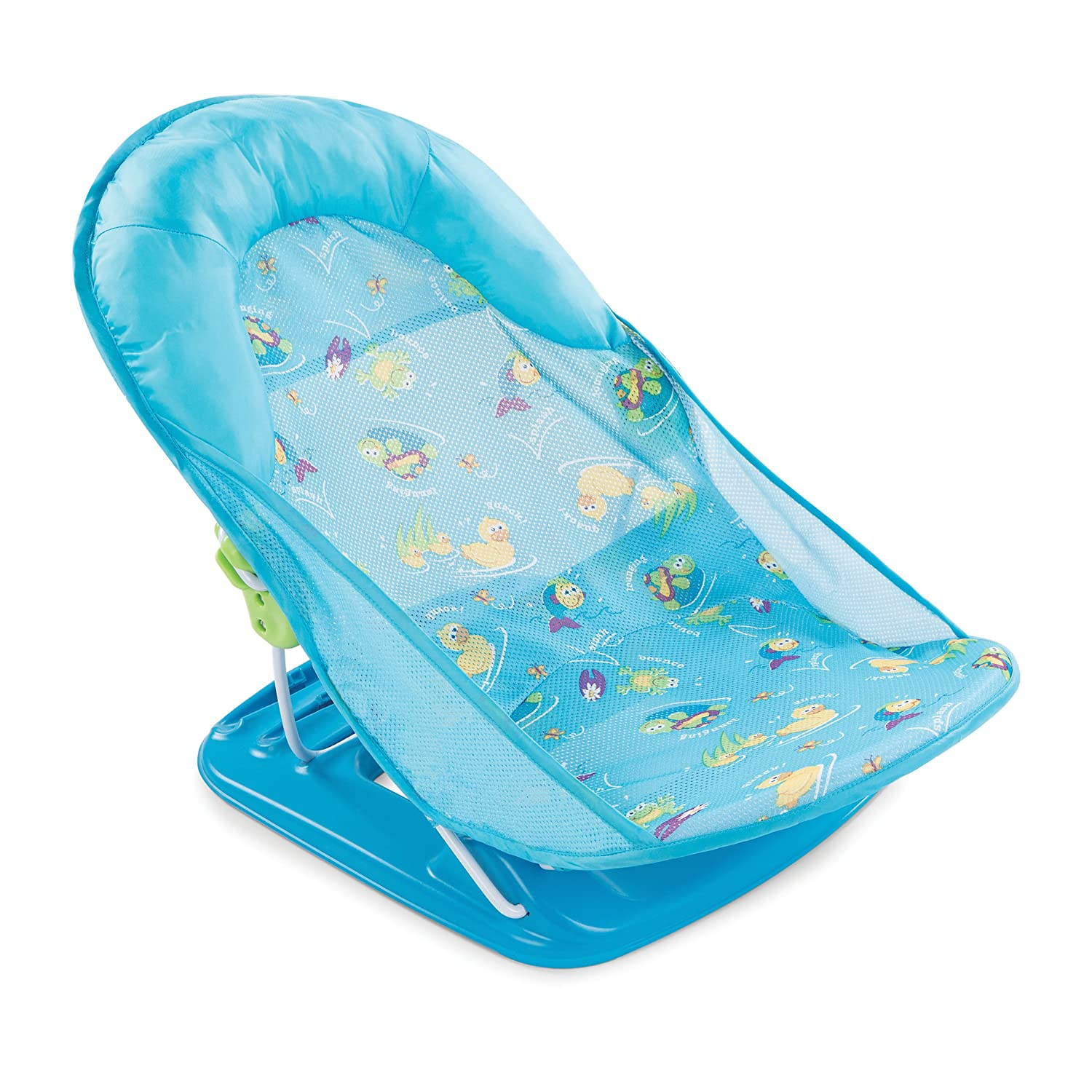 baby bath seat infant tub sink chair recline safety mother helper blue