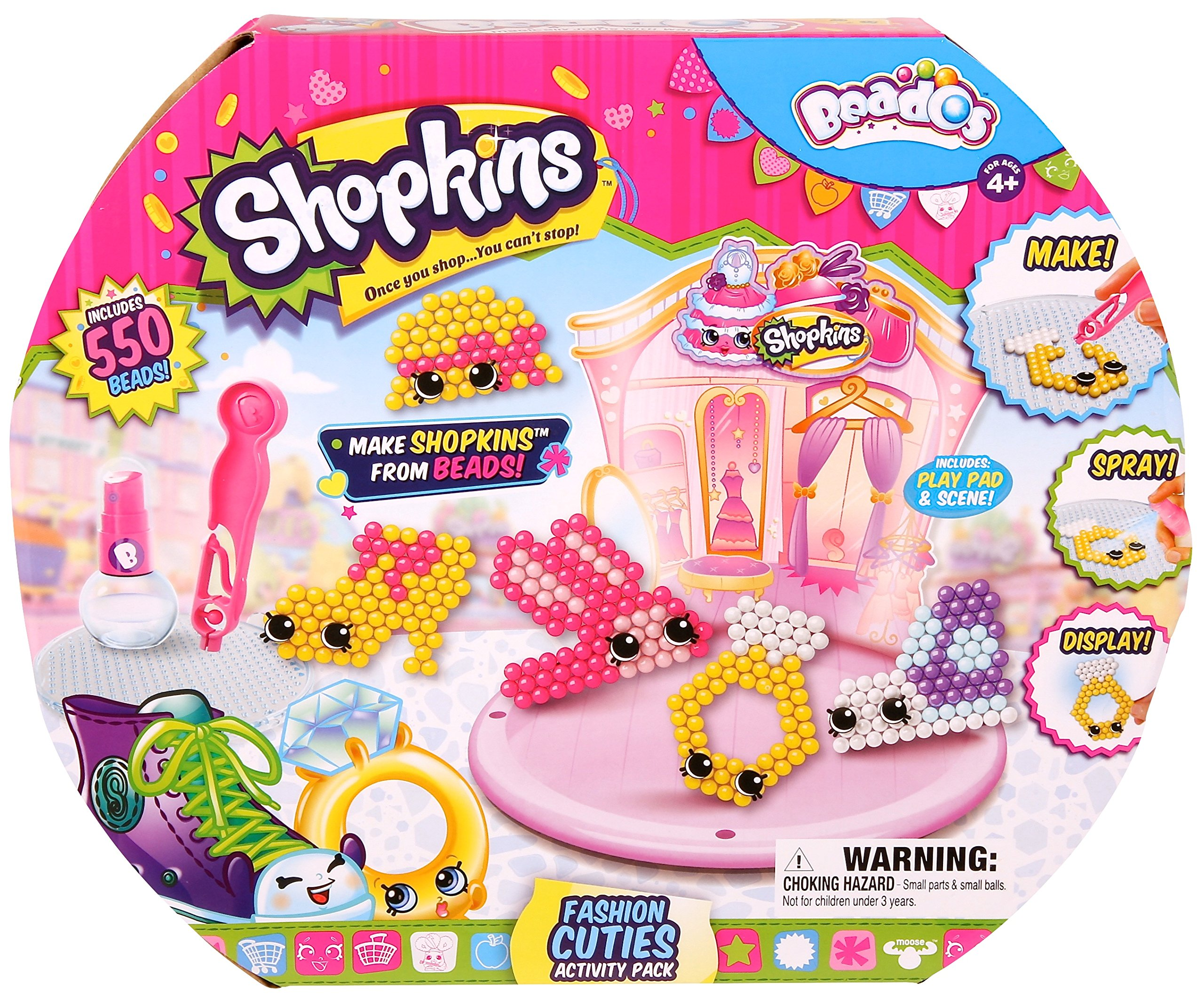 Girl Beados Toys : Beados shopkins fashion cuties activity pack fun kids