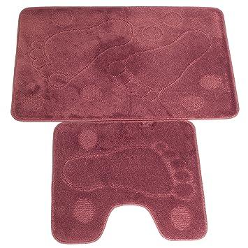 ensemble tapis de de bain et contour de toilette voir description description rose. Black Bedroom Furniture Sets. Home Design Ideas