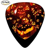 Pimalico Classic Halloween Pumpkin Design Picks (12 Pack, ) for Electric Guitar, Acoustic Guitar, Mandolin, and Bass / Black (Color: Black, Tamaño: ONE_SIZE)