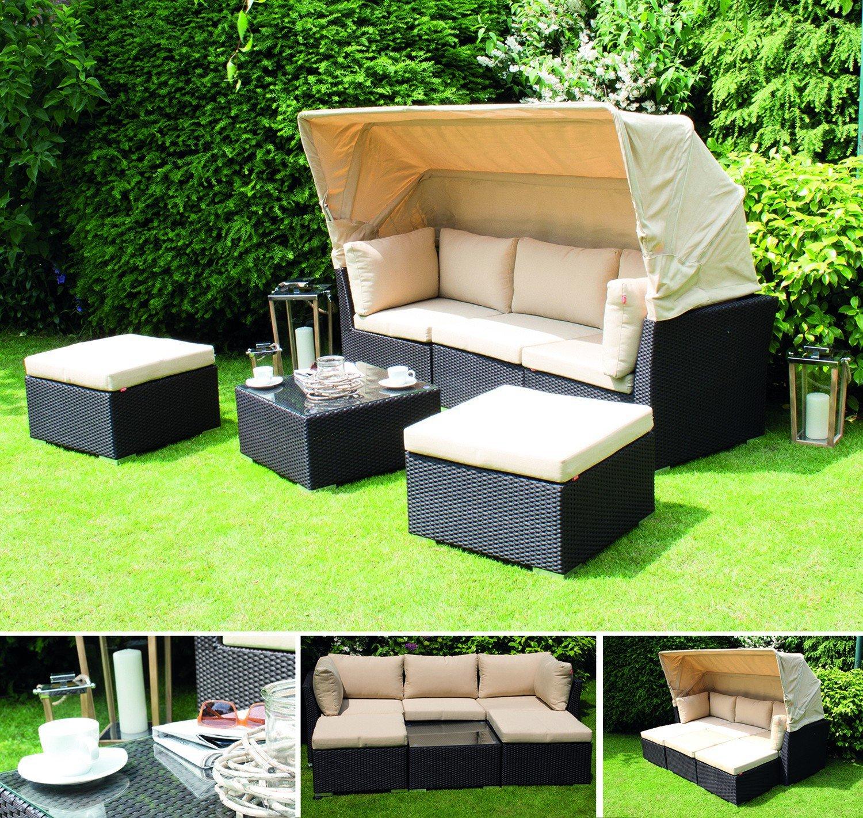 Siena Garden 254931 Marino Lounge Set, 6-teilig, Kissen beige, maron / alu jetzt kaufen