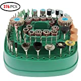 Rotary Tool Accessory Kit Fits Dremel Rotary Tool 276 Pcs Standard ? Inch Diameter Shanks, Used for Sanding/Polishing/Grinding/Cutting and Carving (Color: Green, Tamaño: 18×18×11.5cm)
