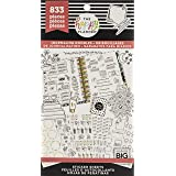 me & my BIG ideas Sticker Value Pack - The Happy Planner Scrapbooking Supplies - Decorative Stickers - Journaling Doodles Theme - Multi-Color & Gold Foil Stickers - 833 Stickers Total (Color: Multi Color)