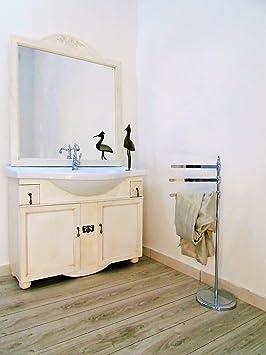 Arredo bagno avorio decape' con lavabo 105 cm mobile bagno contemporaneo