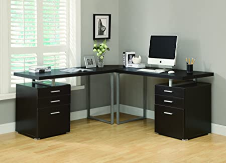 CAPPUCCINO 3PC HOLLOW-CORE DESK SET (2 desks + 1 corner wedge) (SIZE: 72L X 72W X 30H)