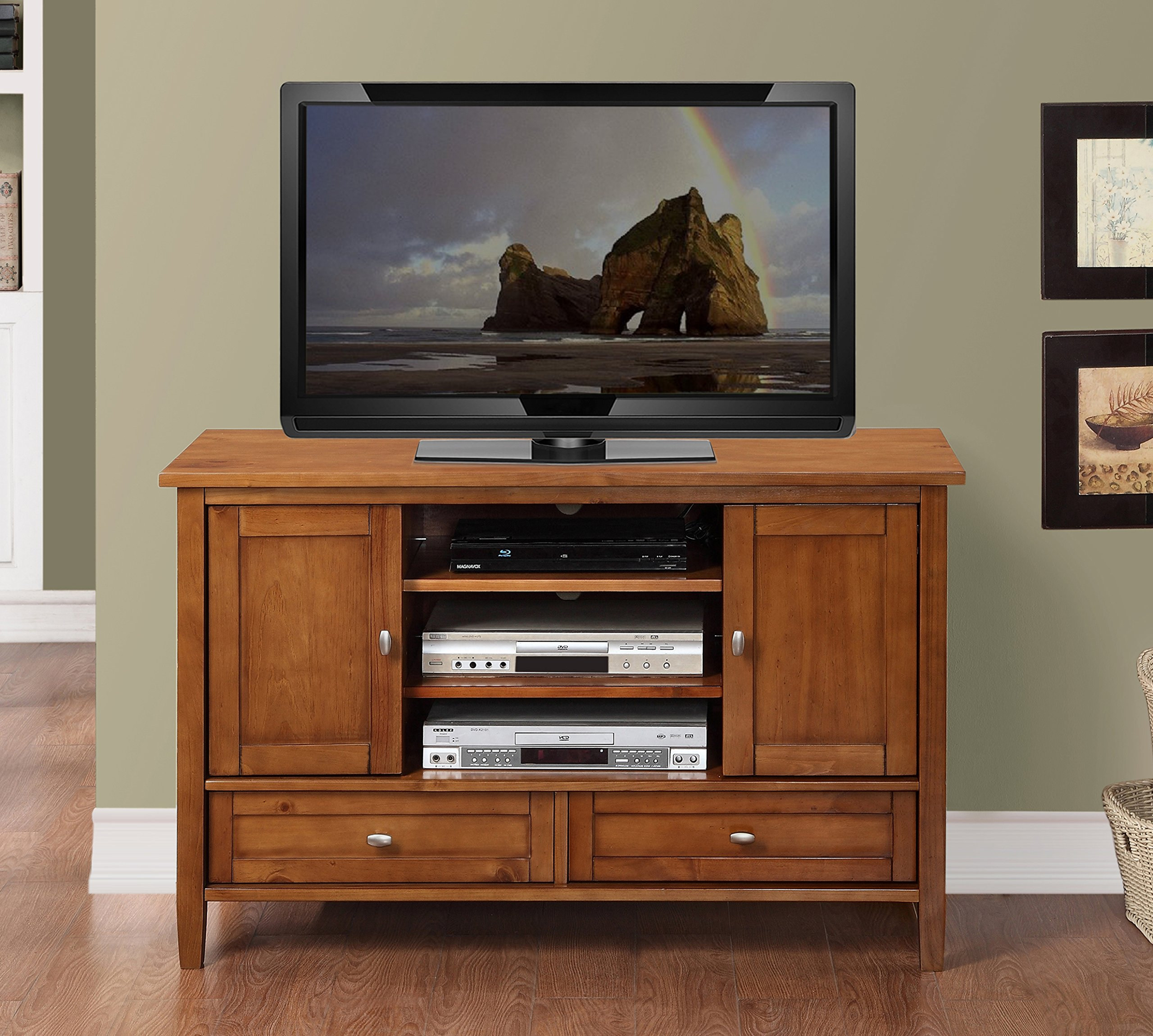Simpli Home AXWSH004 Warm Shaker Collection 47 Inch Tv Stand