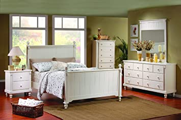 875 Series Panel Bed Size: Full, Finish: White