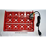 A&I Brooders and Incubators AUTOMATIC 48 Eggs Quail Small Turner Tray 110Volt AC for Incubator NEW! (Color: Red, Tamaño: 48 Quail or 12 Chicken Duck Poultry Avian)