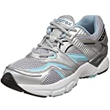 Aetrex Women's Boss Runner Sneaker,Silver/Sea Blue,8.5 M US