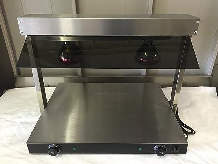 Dispositif Commercial Rôtisserie Etuve, 2 Deux, Nourriture Lampe & Chauffe-plat, Base Chauffante