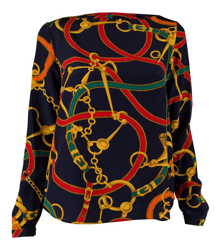 ralph lauren bridle navy print shirt women s - WörterSee Public ... 1b98bf611db