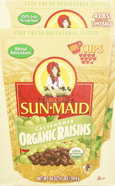 Sun Maid Organic Raisins, 64 Ounce