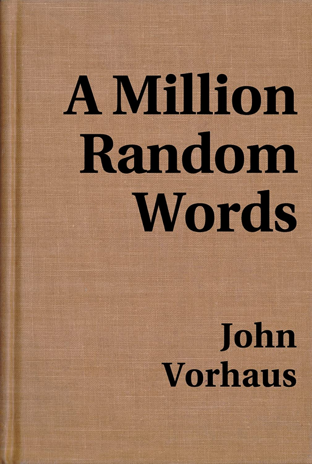 A Million Random Words book cover