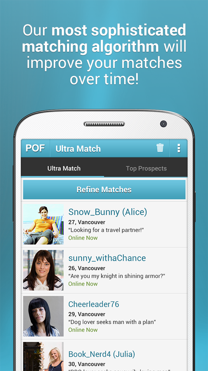 CMB Android Dating App Screenshots (As seen on Google Play):