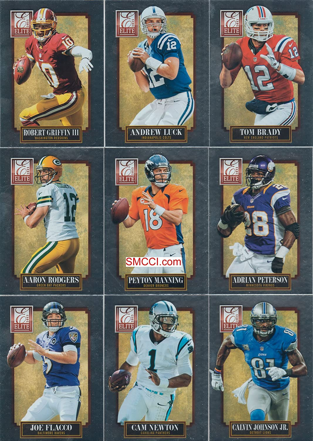 2013 Panini Elite NFL Football Series Complete Mint 100 Card Veteran Players Basic Hand Collated Set football forever football hits