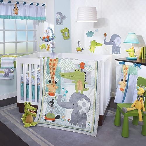 Lambs & Ivy Crib Bedding Set Yoo-Hoo 4 Piece