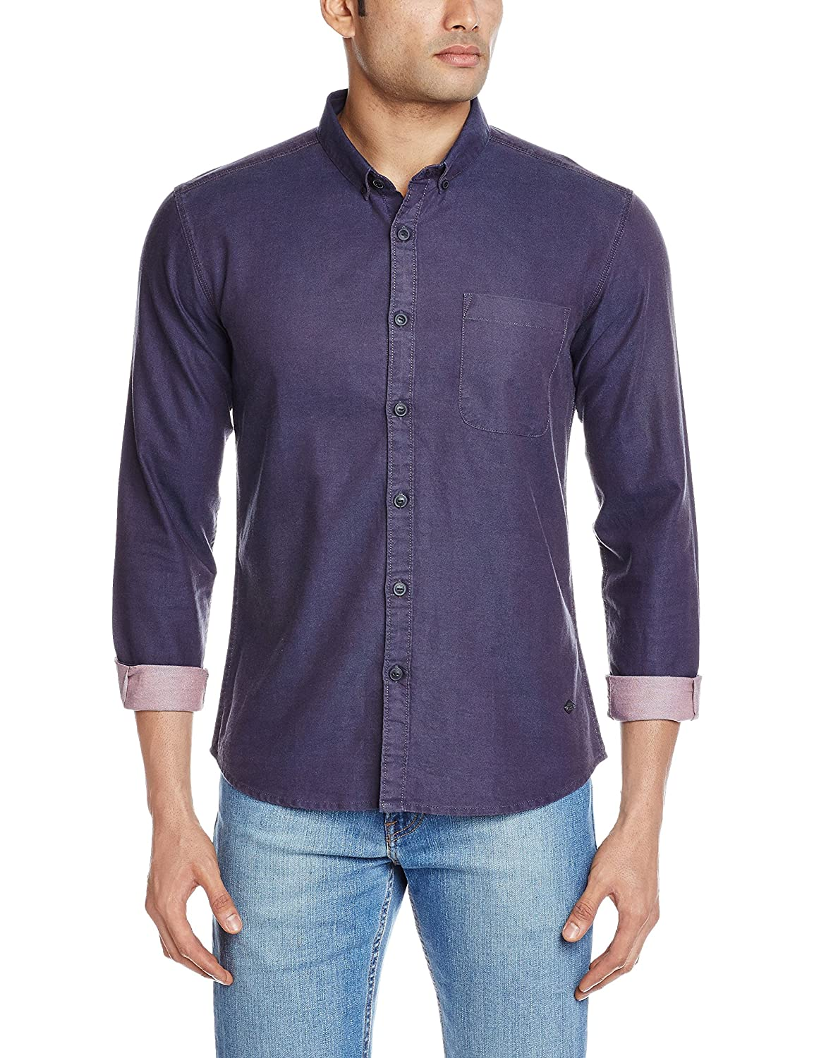 Amazon: VOI Jeans Men's Casual Shirt @ Rs.499/- (74% OFF)