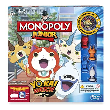 Hasbro - B6494 - Jeu Monopoly Junior  - Yo-Kai Watch