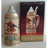 1988 Budweiser Collectable Limited Edition IV Stein; Tavern & Public House Scenes (Color: multi colored)