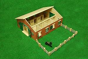 Kids Globe 610595 Pferdestall mit 7 Boxen, Maßstab 124  BaumarktÜberprüfung und Beschreibung