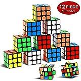 Party Puzzle Toy,12 Pack Mini Cubes Set Party Favors Cube Puzzle,Original Color 1.18