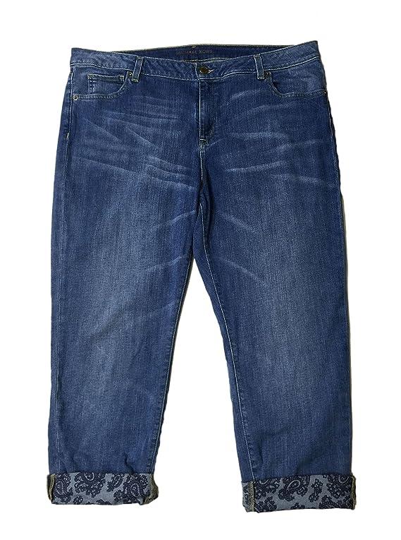 Michael Kors Sexy Boyfriend Crop Jeans Verushka Wash