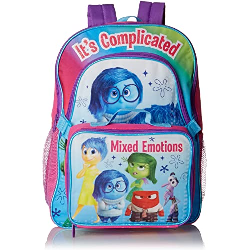 Disney Girls Inside Out Deluxe Backpack with Lunch Kit