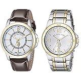 ASOCIACIÓN DE ESTADOS UNIDOS DE POLO. USC2254 clásico de los hombres de dos relojes de dos tonos