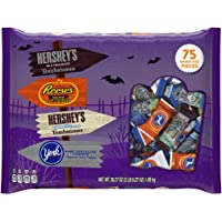 HERSHEY'S Halloween Snack Size Assortment, 75 Pieces (38.27-Ounce Bag)