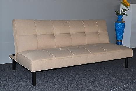 Sofá cama sistema clic clac modelo CHIC color beige - Sedutahome