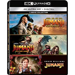 Jumanji (1995) / Jumanji: The Next Level / Jumanji: Welcome to the Jungle - Set [4K Ultra HD + Blu-ray]