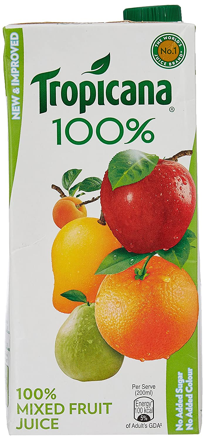 Upto 25% Off On Tropicana 100% Juice - Mixed Fruit, 1 ltr By Amazon @ Rs.98.40