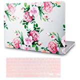LuvCase 2 in 1 Bundle Rubberized See Through Plastic Hard Shell Case Cover with Keyboard Cover Compatible MacBook Air 13 Inch A1466 / A1369 (No Touch ID) (Rose Bouquet) (Color: Rose Bouquet with Keyboard Cover, Tamaño: A1466/A1369 Air 13