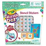 Crayola Glitter Dots Stencil Stickers Craft Kit Age 7+ (Color: Sticker Stencils)