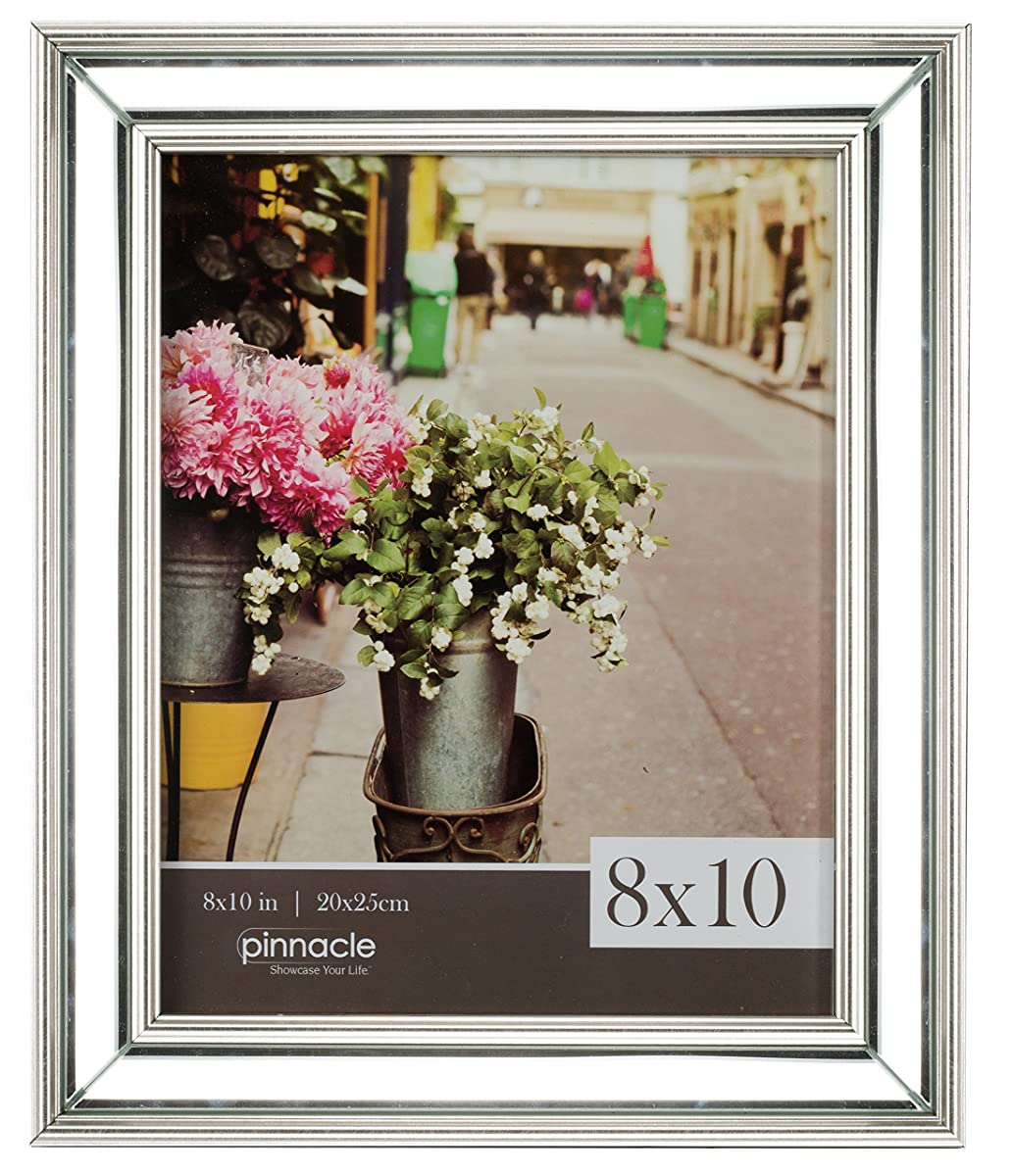 Pinnacle frames and accents 15fp1777 mirrored slant frame clear jeuxipadfo Choice Image
