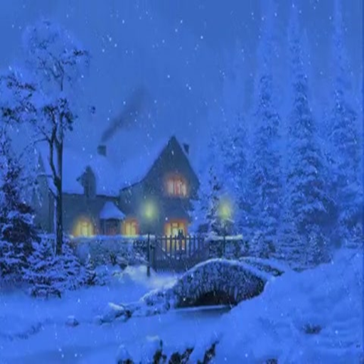 Snow Cottage LIVE WALLPAPER